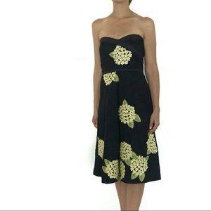 Anthropologie Odille Moonlight Tea Floral Dress 8